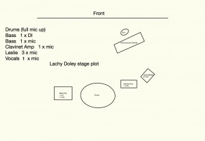 Lachy Doley Stage Plot
